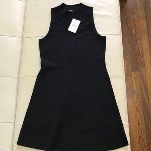 Theory Black Dress 100% Wool Milano knit